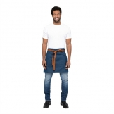 Chef Works Urban Berkeley Denim Half Bistro Apron Medium Blue