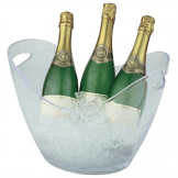 APS Acrylic Wine And Champagne Bucket Large