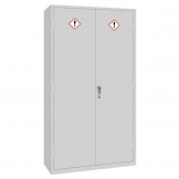 COSHH Cabinet Double Door Grey 36Ltr