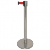 Bolero Polished Red Strap Barrier