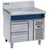 Blue Seal Evolution Target Top with Refrigerated Base Nat Gas 900mm G57-RB/N