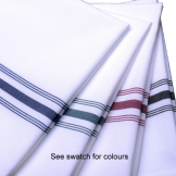 Bistro Napkin with Coloured Stripe (50 pcs)