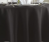 100% Polyester Tablecloth - Black