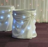 10 ft Cake Table Skirt -White
