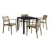 ARTEMIS Taupe Dining Set
