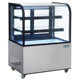 Polar Deli Display with Curved Glass 270Ltr