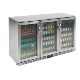 Polar Back Bar Cooler with Hinged Doors in Stainless Steel 330Ltr