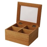 Olympia Mini Hevea Wood Tea Box