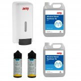 Special Offer 4 x Hand Sanitisers and Jantex Soap and Hand Sanitiser Dispenser