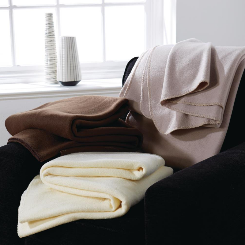 Mitre Essentials Polar Blanket Camel - Double