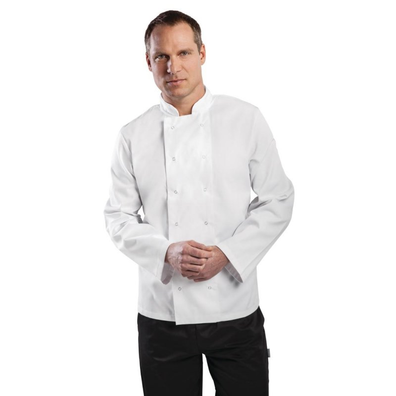 Whites Vegas Unisex Chef Jacket Long Sleeve White - XXL