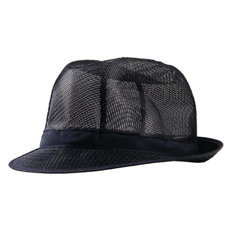 Trilby Hat Navy Blue M