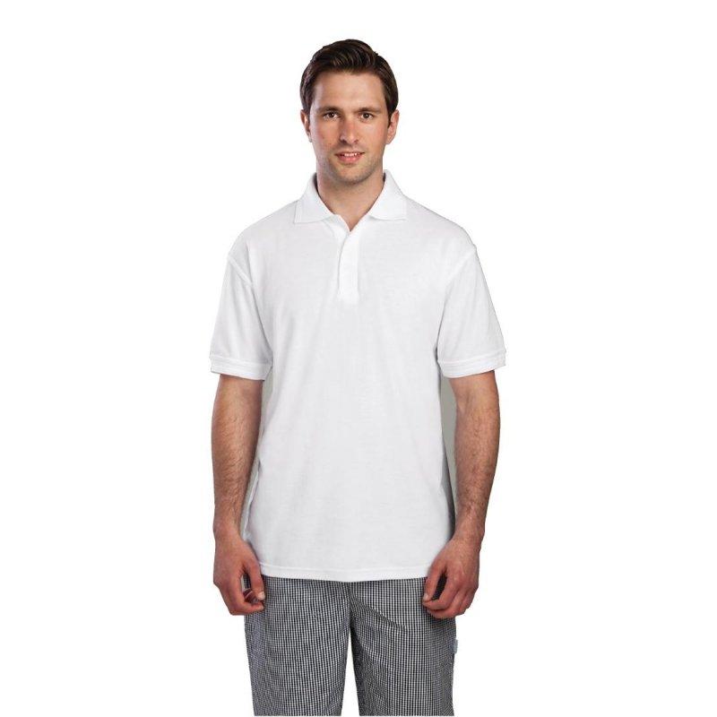 Unisex Polo Shirt White M