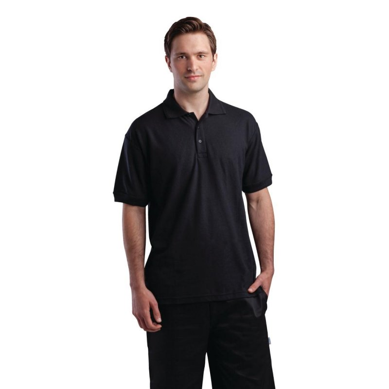 Unisex Polo Shirt Black M