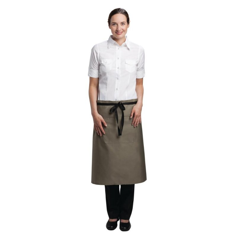 Chef Works Regular Bistro Apron Olive