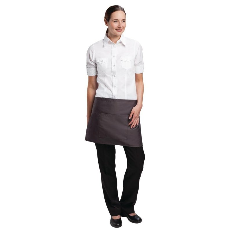 Chef Works Short Bistro Apron Charcoal