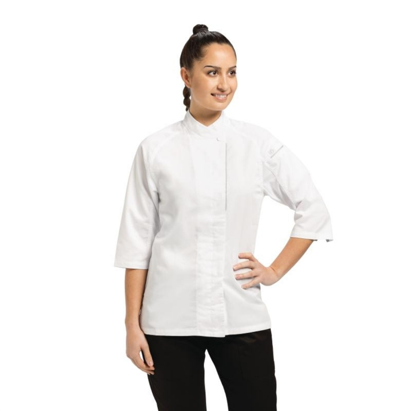 Chef Works Cool Vent Verona Womens Chefs Jacket White XS
