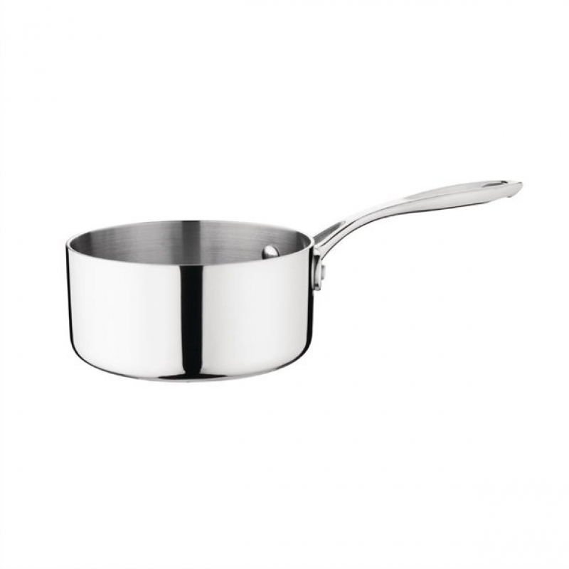 Vogue Stainless Steel Stewpan 7Ltr//240mm Heavy Duty Cooking Induction Pan