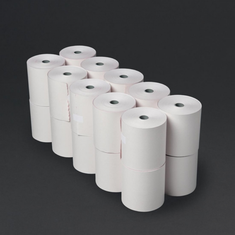 Size 57mm x 37mm cash till PDQ Machine Thermal Paper 20 Credit Card Machine
