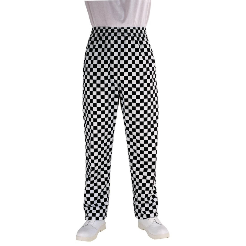 Chef Works Essential Baggy Pants Big Black Check XS