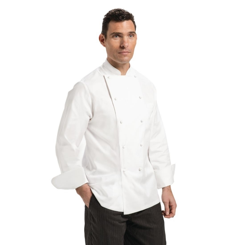 Chef Works Unisex Madrid Chef Jacket White Size 40