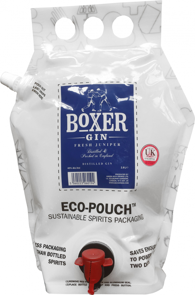Boxer Gin - Eco-Pouch Refill (2.8 Litre Eco-Pouch)