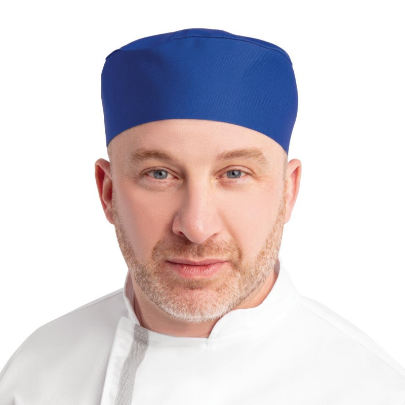 Whites Chefs Skull Cap Royal Blue