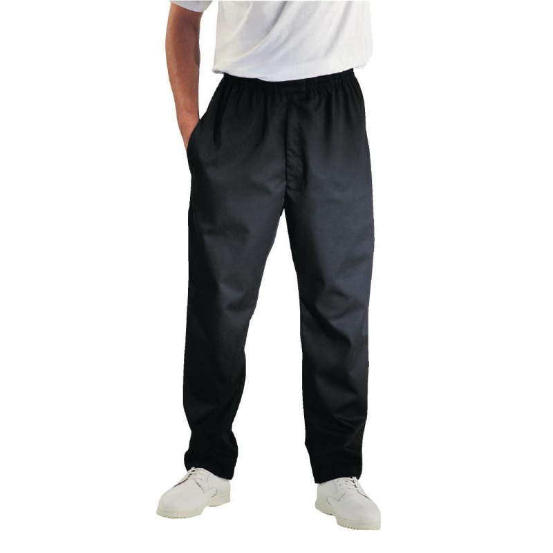 Chef Works Unisex Easyfit Teflon Coated Chefs Trousers Black L