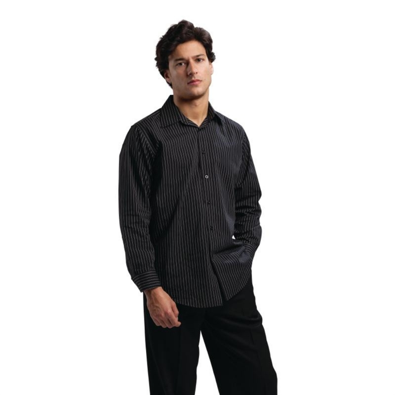 Chef Works Long Sleeve Shirt Pinstripe M