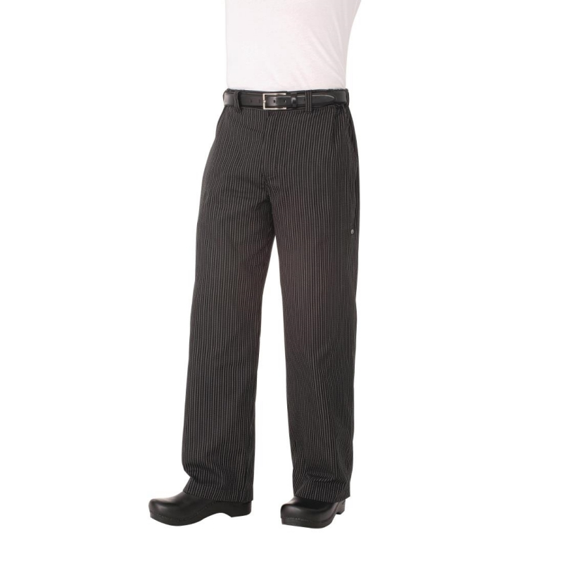 Chef Works Unisex Professional Series Chefs Trousers Grey Herringbone Stripe S