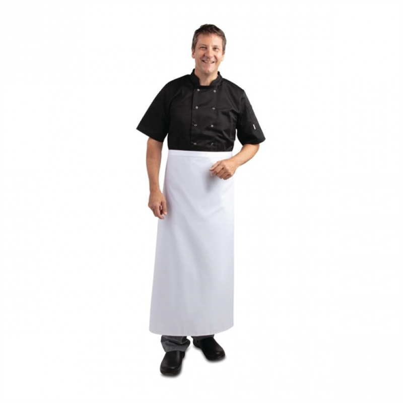 Long Bistro Apron White