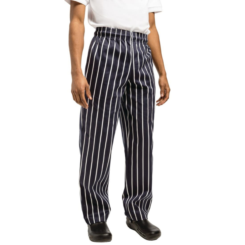 Chef Works Unisex Easyfit Chefs Trousers Butchers Stripe XS
