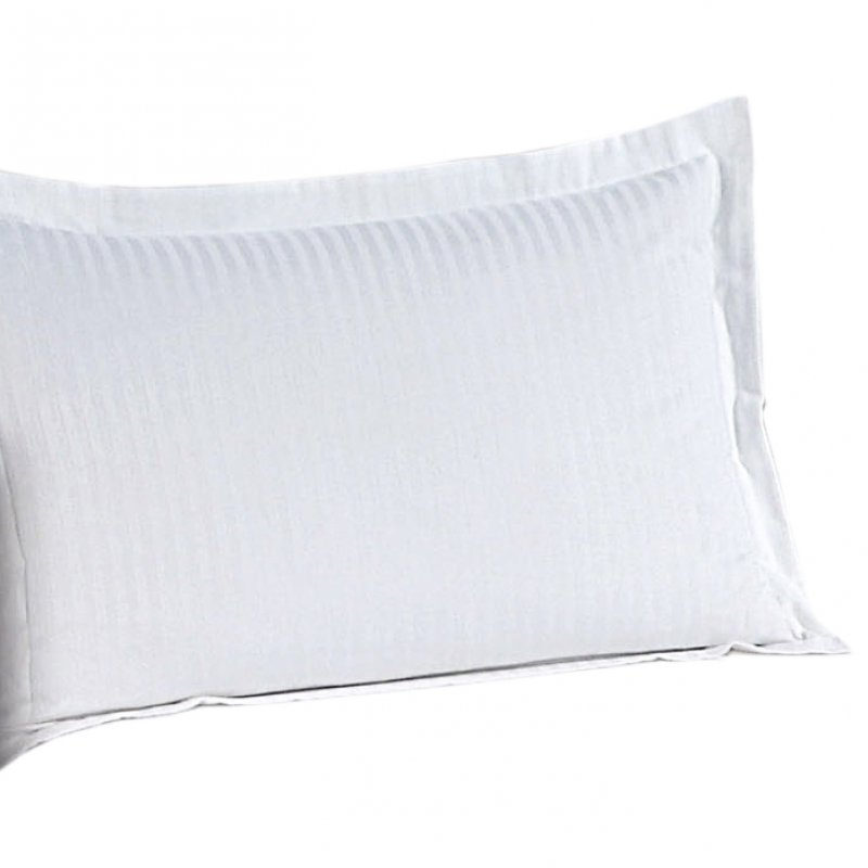 100% Cotton 250 TC 1CM Sateen Stripe Oxford Pillowcases (Pair)