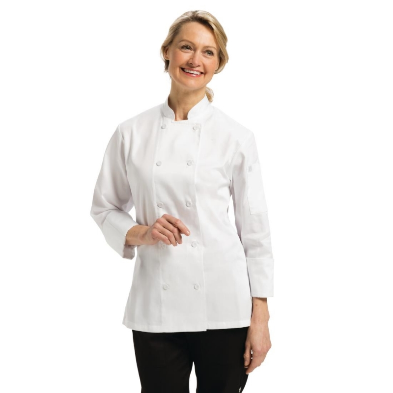 Chef Works Marbella Womens Executive Chefs Jacket White L