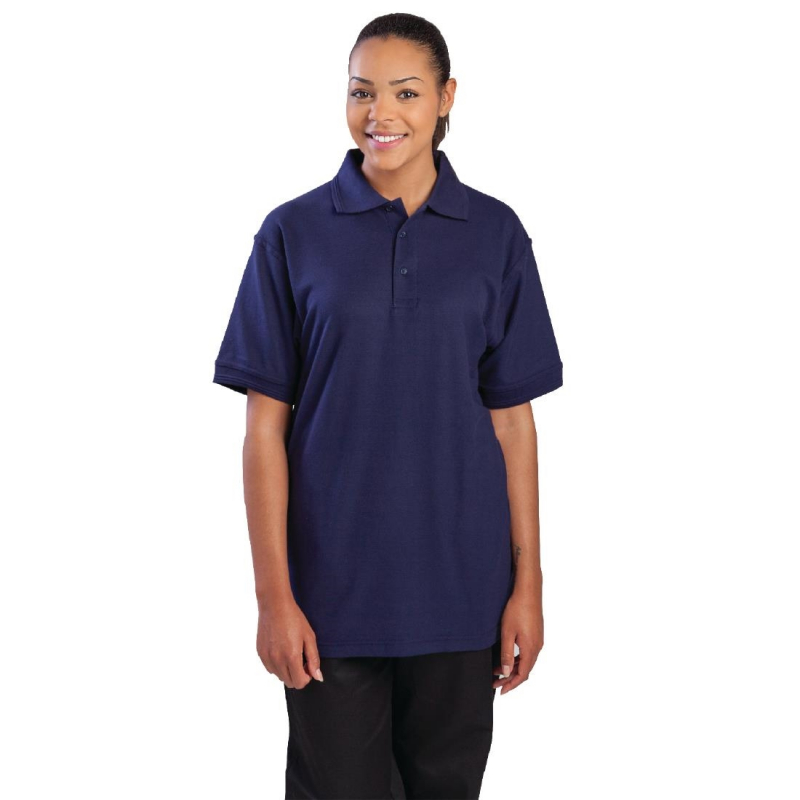Unisex Polo Shirt Navy Blue L