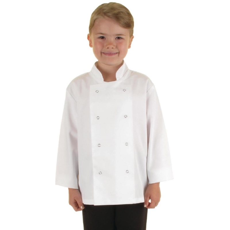 Whites Childrens Unisex Chef Jacket White S
