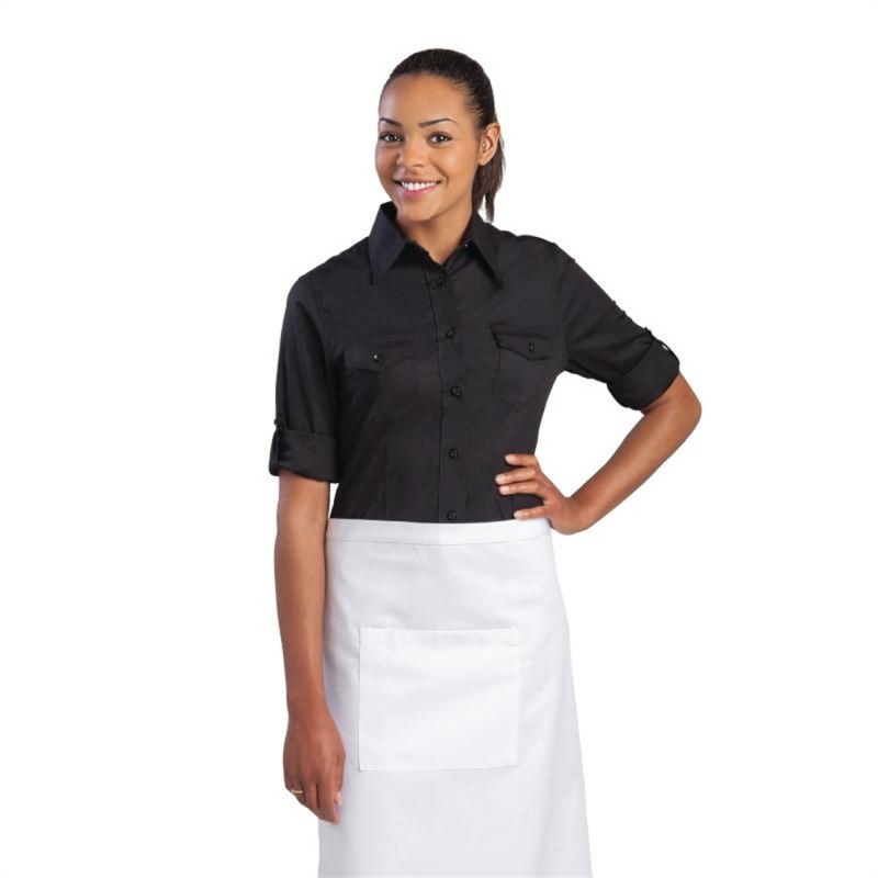 Chef Works Womens Pilot Shirt Black M