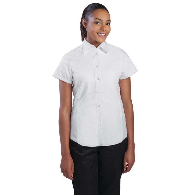 Chef Works Womens Cool Vent Chefs Shirt White M