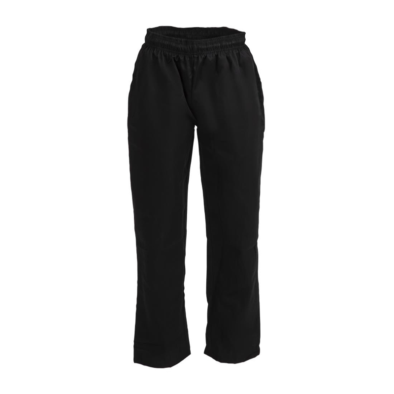 Whites Vegas Chef Trousers Polycotton Black - L