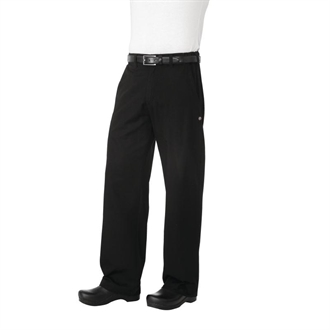 Chef Works Unisex Professional Series Chefs Trousers Black Herringbone M