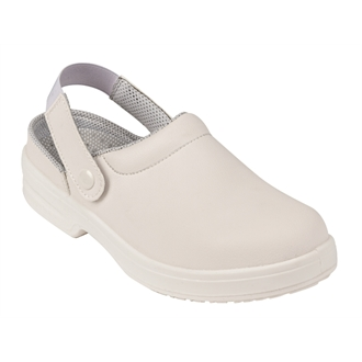 Lites Unisex Safety Clog White 38