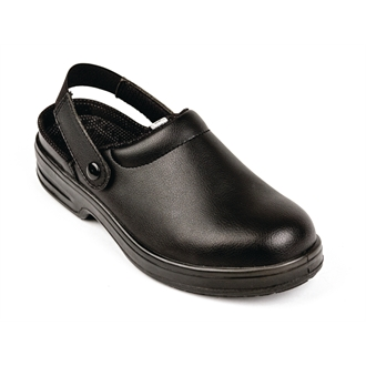 Lites Unisex Safety Clogs Black 46